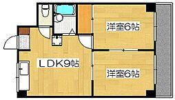 サンライズ日本[606号室]の間取り