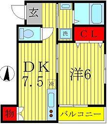 シルキーパレス[2階]の間取り