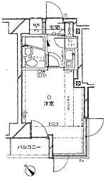 クリオ阪東橋壱番館[2階]の間取り