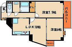 ライオンズマンション西明石[3階]の間取り
