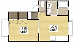 広島県広島市西区大芝1丁目の賃貸アパートの間取り