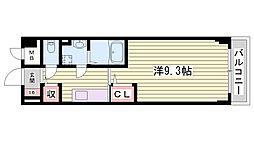 JR東海道・山陽本線 明石駅 3.4kmの賃貸マンション 3階1Kの間取り