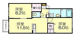 シャーメゾン空港南[2階]の間取り