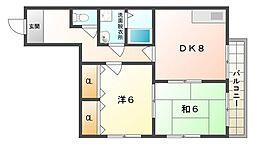 シェルマンド守口[4階]の間取り