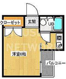 第11長栄シャトー泉[205号室号室]の間取り