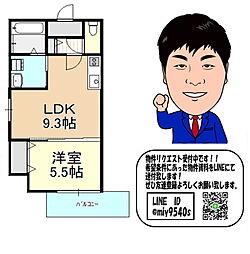 京阪本線 古川橋駅 徒歩15分 1階1LDKの間取り