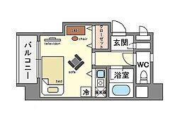 家具・家電付き ロマネスク平尾第3[3階]の間取り