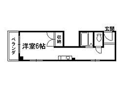 御所西シンワマンション[5階]の間取り