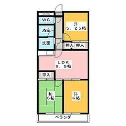 Spazio665[2階]の間取り