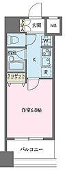 ドゥーエ新川[1206号室]の間取り