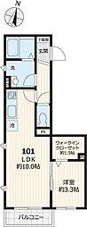 JR山手線 大塚駅 徒歩11分の賃貸アパート 1階1LDKの間取り
