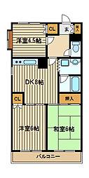 東京都西東京市下保谷3の賃貸マンションの間取り