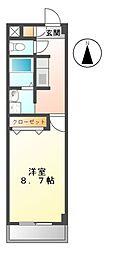 エスパシオ可児[3階]の間取り