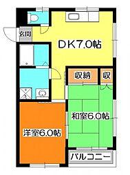 コーポ木村[3階]の間取り