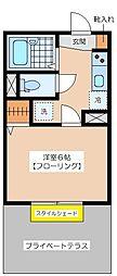 PLAZACOUAT UMEGAOKA[103号室]の間取り