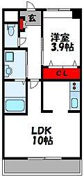 仮称)上府北2丁目アパート[207号室]の間取り