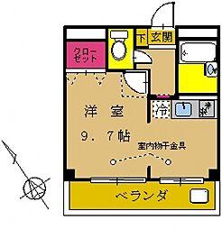 神奈川県横浜市緑区台村町の賃貸マンションの間取り