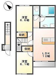 スターテラス22A[2階]の間取り