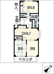 プランドール蔵子[2階]の間取り