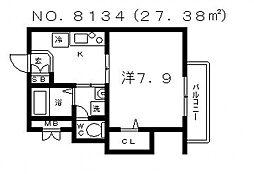 メゾンドピアフ[5階]の間取り