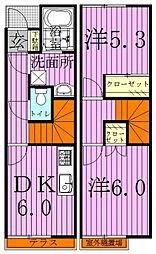 [テラスハウス] 千葉県流山市江戸川台西3丁目 の賃貸【/】の間取り