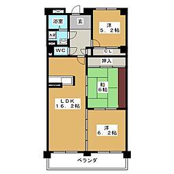 ハイレジデンス松涛 11B[11階]の間取り