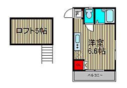 STプレイス1[2階]の間取り