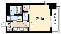 ヴィークブライト名古屋新栄 9階1Kの間取り