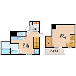仙台市地下鉄東西線 川内駅 徒歩15分の賃貸マンション 1階1DKの間取り