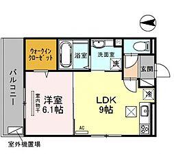 仮称)西野小柳町D-room[205号室号室]の間取り