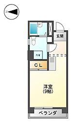 レディース徳川[5階]の間取り
