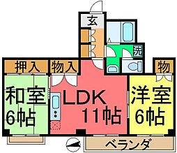 セントラルハイツYOSHIDA[301号室]の間取り