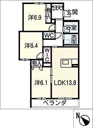仮)JA賃貸豊田市三軒町 3階3SLDKの間取り
