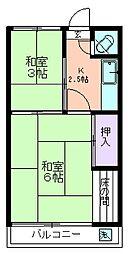 第二光荘[208号室]の間取り