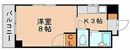 サニーピア竹下[2階]の間取り