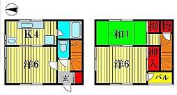 [テラスハウス] 千葉県柏市西町 の賃貸【千葉県 / 柏市】の間取り