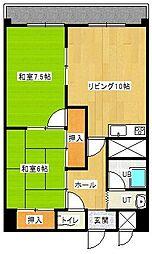 メゾンド村井[403号室]の間取り