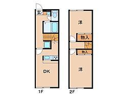 レオパレスINBEIII[2階]の間取り
