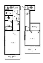 創和ハウジング西坂新築アパートII[2階]の間取り