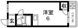 ベルハイム俊徳道[210号室号室]の間取り
