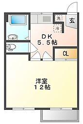 岡山県倉敷市阿知3丁目の賃貸マンションの間取り