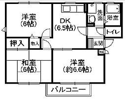 パセオ多田[2階]の間取り