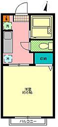 エトワール・ド・ルワB棟[203号室]の間取り