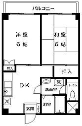 東京都板橋区東山町の賃貸マンションの間取り