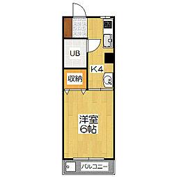 コーポヒラナカ[4階]の間取り