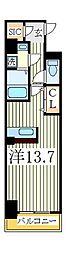 フォンテーヌ[5階]の間取り