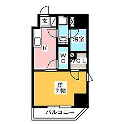 GRAN PASEO 浅草橋 7階1Kの間取り