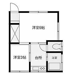 今井荘[1階]の間取り