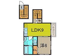 (仮称)SFA新築アパート[2階]の間取り