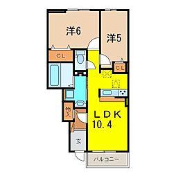 ラディアントA[102号室]の間取り